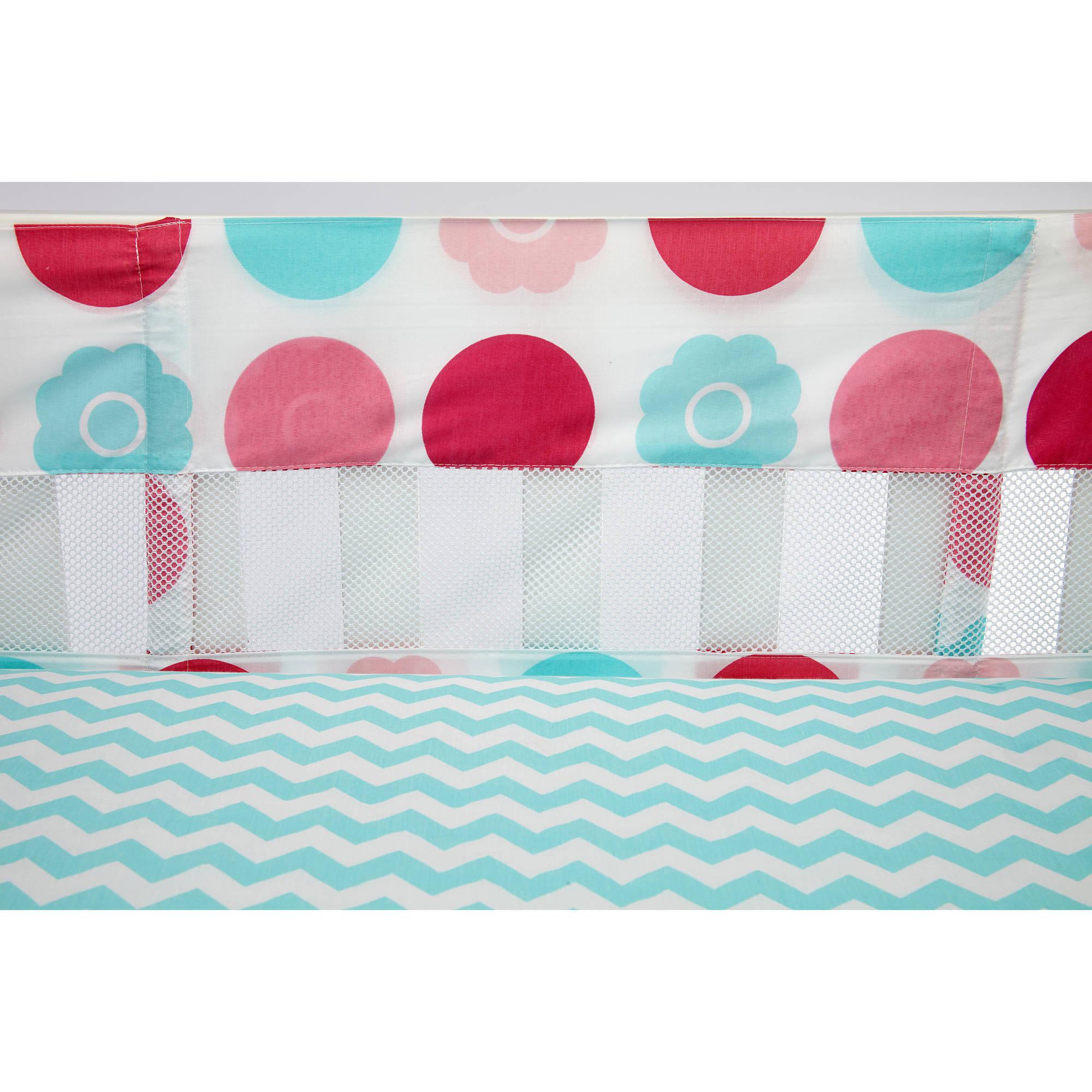 Little Bedding by NoJo Tickled Pink Crib Liner