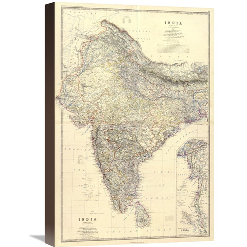 Global Gallery 'Composite: India, 1861' by Alexander Keith Johnston Graphic Art on Wrapped Canvas