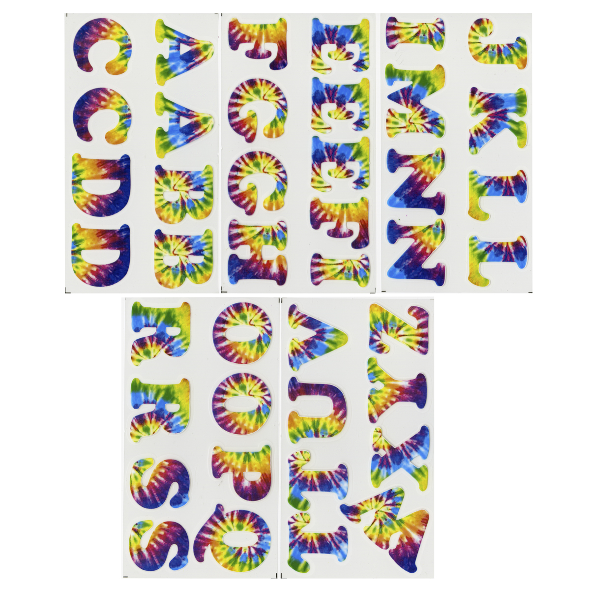 Dritz Iron-On 1-1/4 Cooper Letter - Tie Dye Multi-Colored