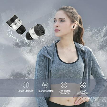 AGPtek Wireless Bluetooth Stereo Headset In-Ear Earphone Earbuds HD Bass Sweat proof Earphones for iPhone &