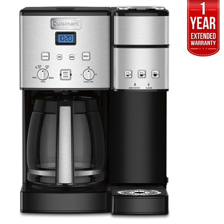 Electric With Timer Coffee Maker - Cuisinart SS-15 12-Cup Coffee Maker and Single-Serve Brewer, Stainless Steel with 1 Year Extended Warranty