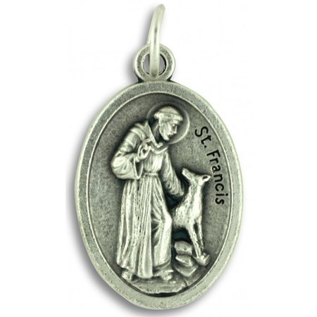 Saint Dominic Medal (Saint Francis Protect and Bless My Pet Dog Cat Medal 1 Inch (St. Francis) )