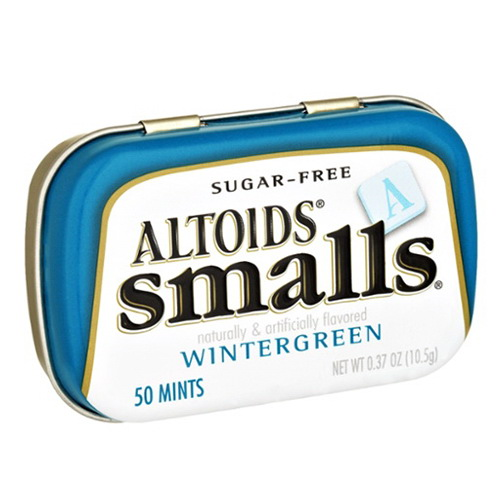 Altoids Smalls Sugar Free Curiously Strong Mints, Wintergreen Flavor 0.5 Oz, 9 Ea by Altoids Strong Peppermint Candy