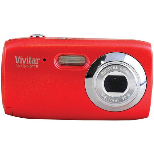 Vivitar Red ViviCam V5118 Digital Camera with 5.1 Megapixels
