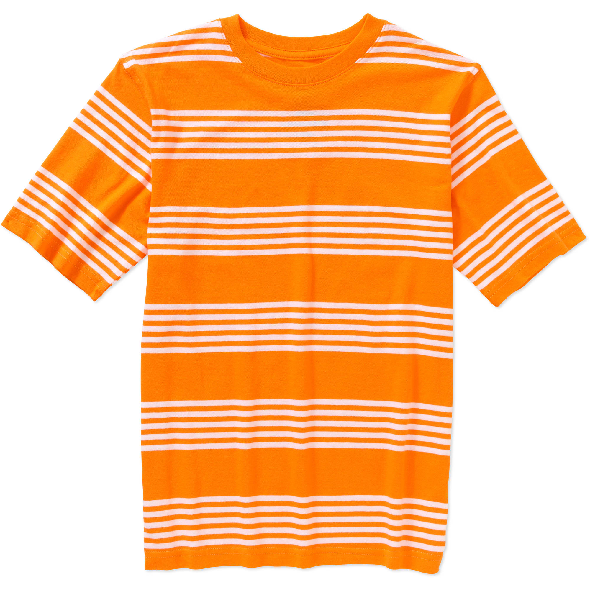 Faded Glory Boys' Short Sleeve Stripe Crew Tee
