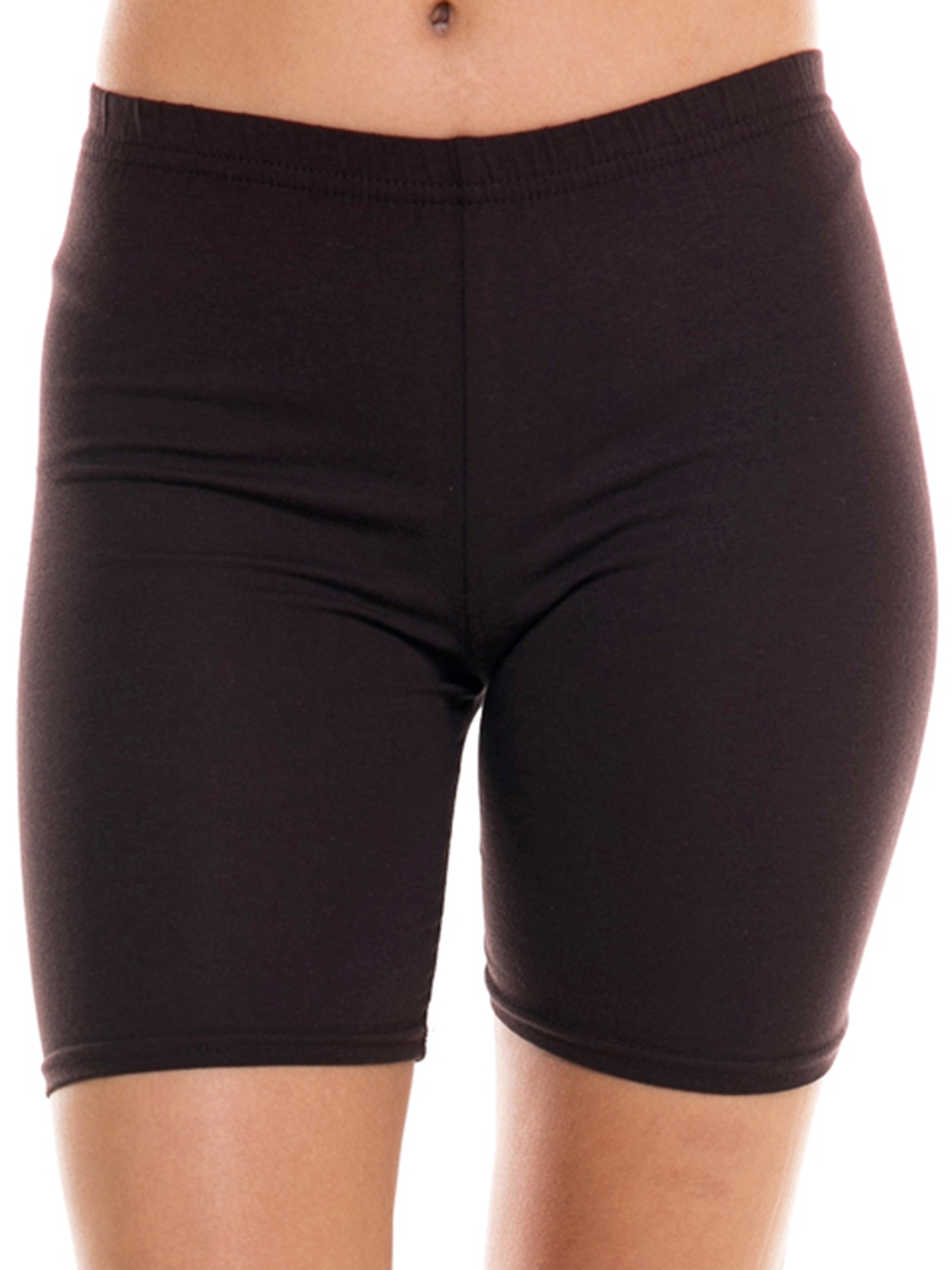 Ola Mari's Junior Size Solid Plain Cotton Biker Shorts
