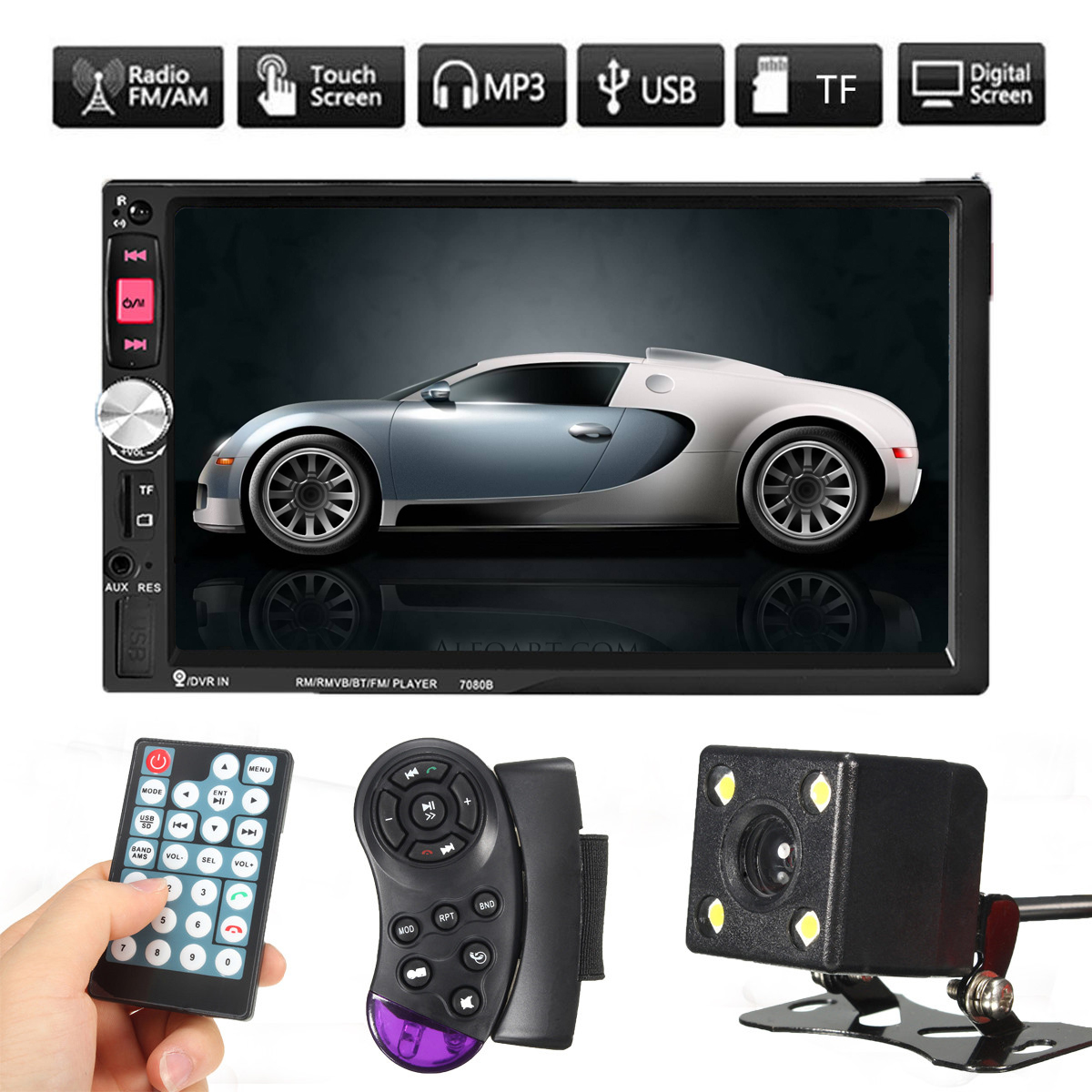7'' Car MP5 Player Touch Screen 2Din Car MP5 FM AUX Player