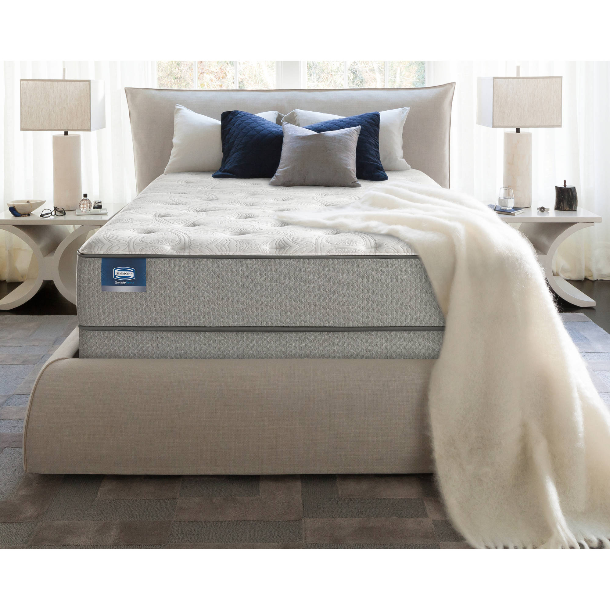 "BeautySleep Almond 14"" Luxury Firm Mattress, Multiple Sizes"