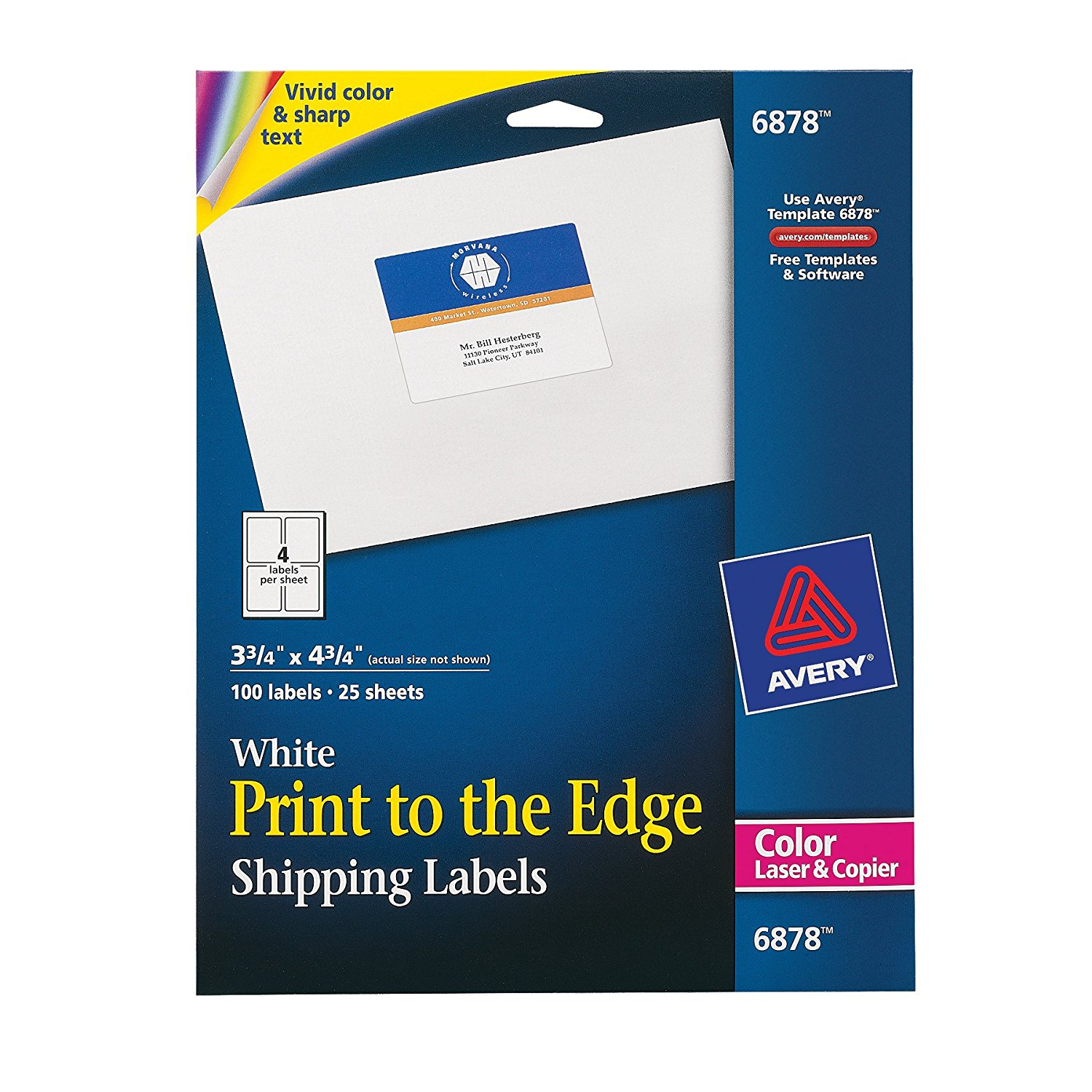 Print To The Edge Shipping Labels For Color Laser Printers And