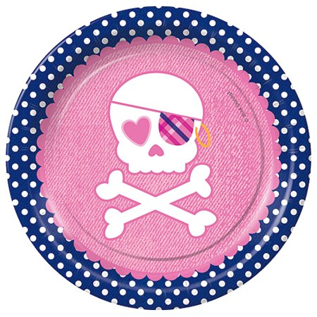 Preppy Pirate Dessert Plates