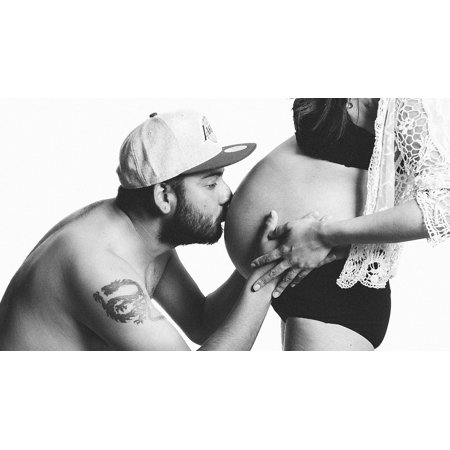 Peel-n-Stick Poster of Pregnancy Woman Pregnant Baby Couple Love Mother Poster 24x16 Adhesive Sticker Poster Print