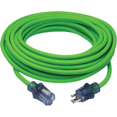 PRIME NS512830 Neon Flex 12/3 SJTW High-Visibility Extreme Cold Weather Outdoor Extension Cord, 50 Feet (Non Extension)