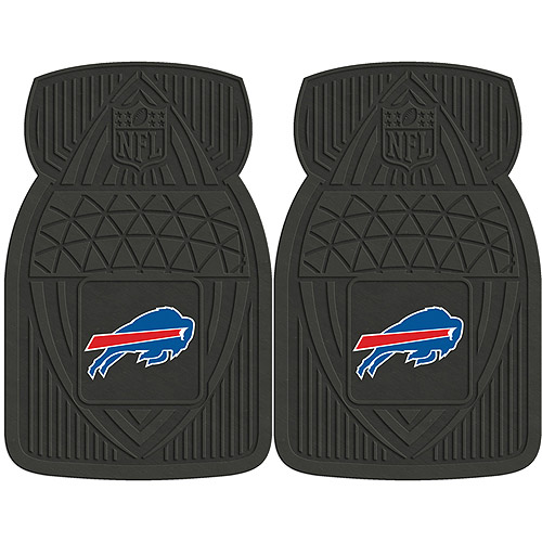 NFL 2-Piece Heavy-Duty Vinyl Car Mat Set, Buffalo Bills
