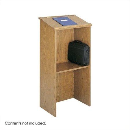 Safco Medium Oak Stand-Up Lectern Podium - image 2 de 2
