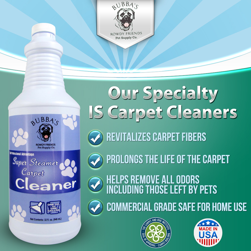 Bubbas Carpet Cleaner Solution. Odor Eliminator and Stain ...