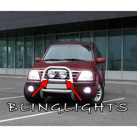 New Suzuki XL-7 XL7 Offroad Light Bar Auxilliary Driving Lamps Off Road Aux Grill Lamp Kit Grille Lights (Aux Light)