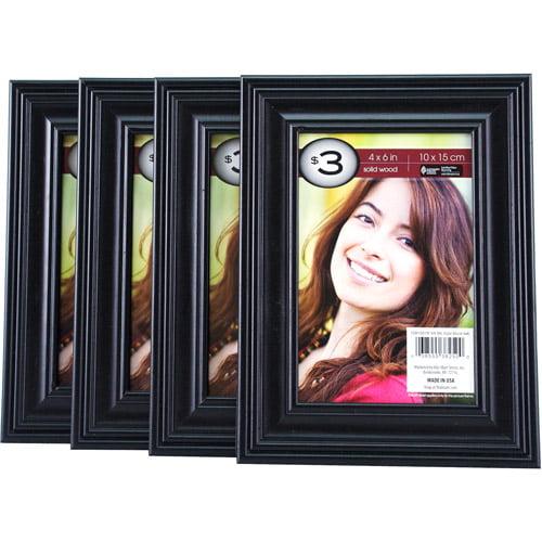 """Black Solid Wood Frame, 4"""" x 6"""""""