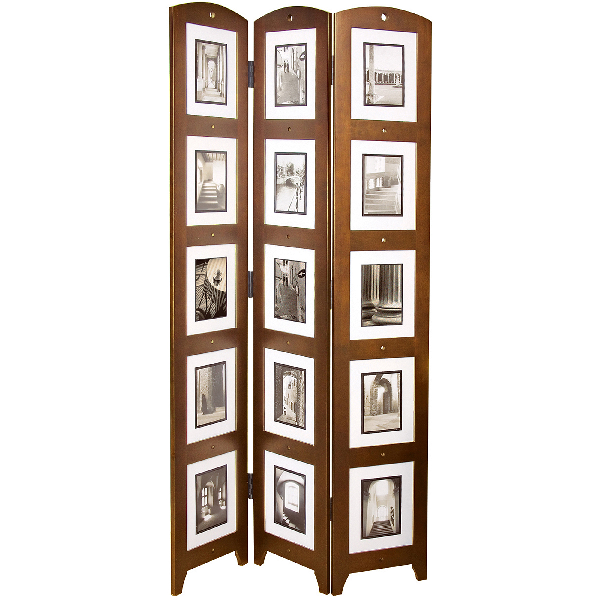 "Kiera Grace Triple-Panel Cairo Photo Screen Room Divider, Holds 15 Photos, 33"" x 64.5"""