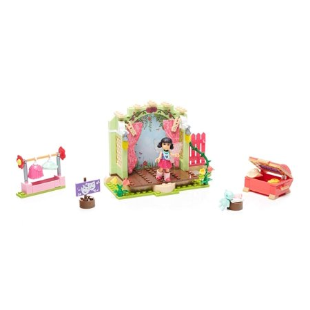 Mega Construx Welliewishers Garden Theatre Emerson Buildable Playset, Easy-to-build garden theater with reversible daytime/night-time backdrop By Mega (Mega Bloks In The Night Garden Building Bucket)