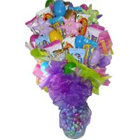 Happy Easter Candy Bouquet Gift Basket