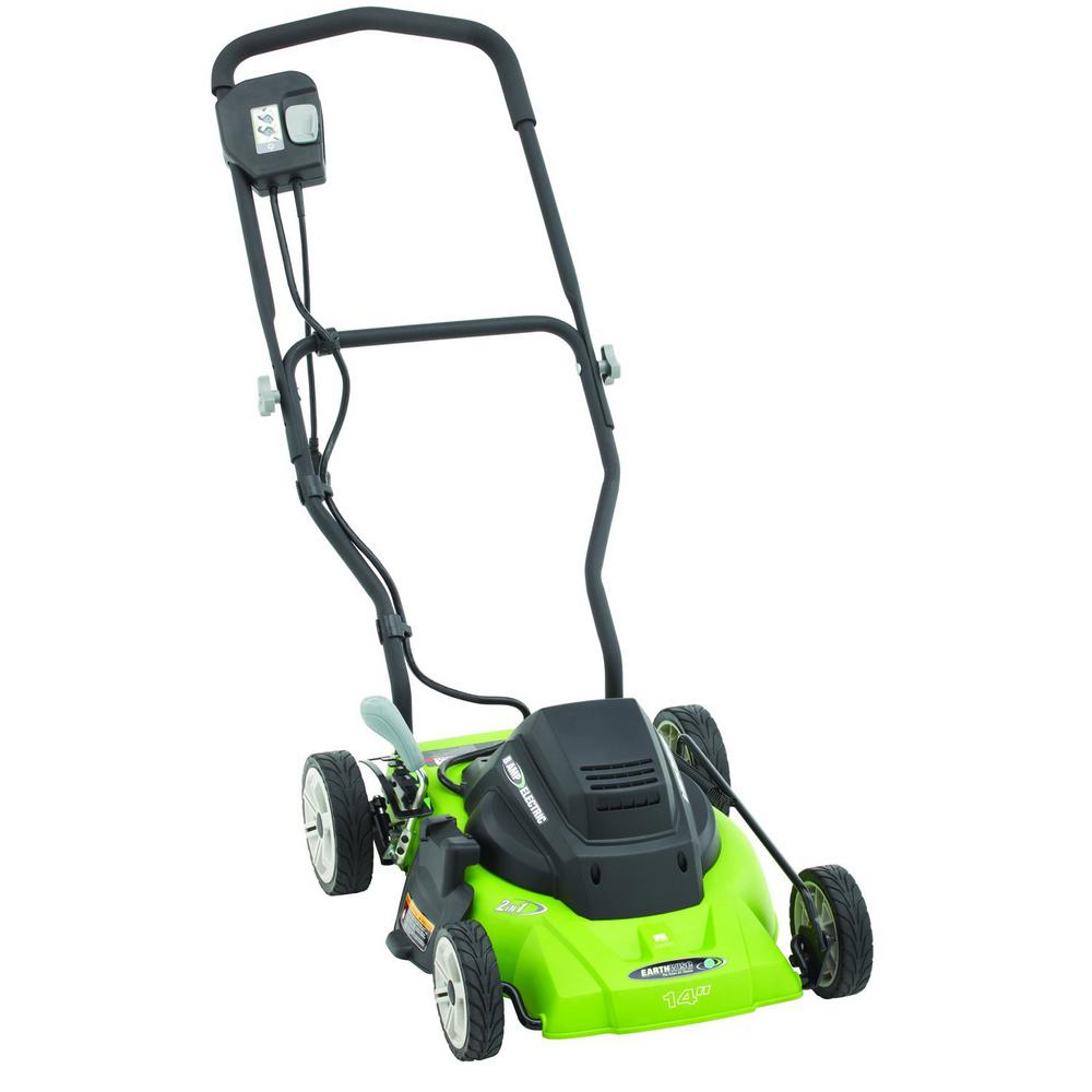 Earthwise Lawn Mower 14 in. 120 Volt Corded Electric Walk Behind Push 50214 by