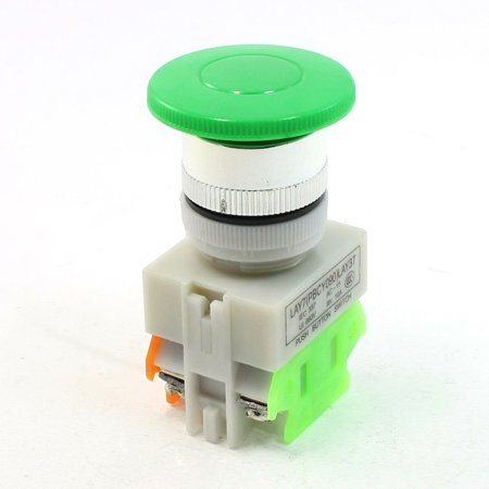 Unique Bargains DPST 1NO 1NC Green Sign Mushroom Emergency Stop Push Button Switch Ui 660V 10A