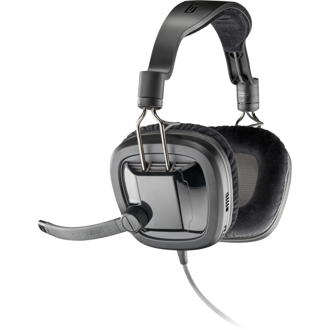 Plantronics GameCom 380 Stereo Gaming Headset - Stereo - Mini-phone - Wired - 34 Ohm - 20 Hz - 20 kHz - Over-the-head - Binaural - Ear-cup - 6.56 ft Cable - Noise Cancelling Microphone