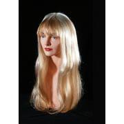Star Power Womens Straight Hair Wig w Bangs, Honey Blonde, One-Size