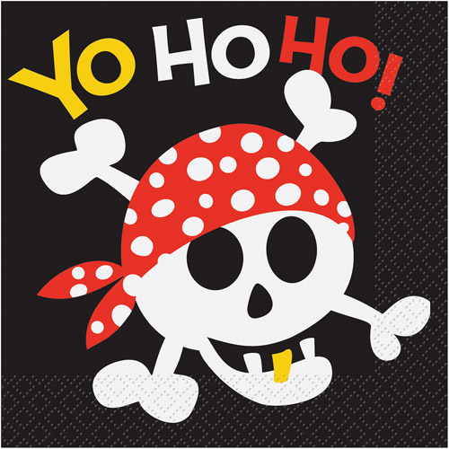Pirate Party Napkins, 16ct