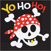 Pirate Party Lunch Napkins, 16ct
