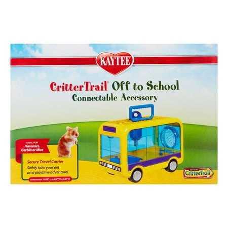 Kaytee CritterTrail Off to School Small Animal Habitat, Small, Assorted Colors