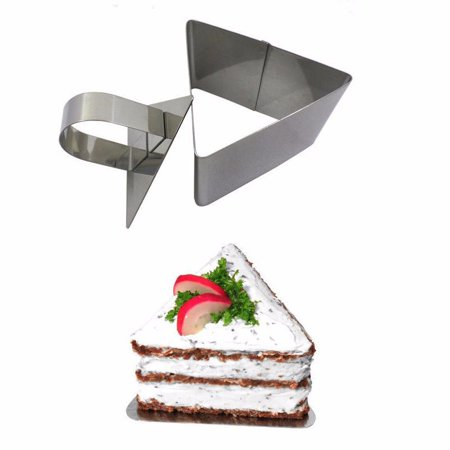 Stainless Steel Baking Cake Ring Dessert Mousse Pastry Mold with Pusher