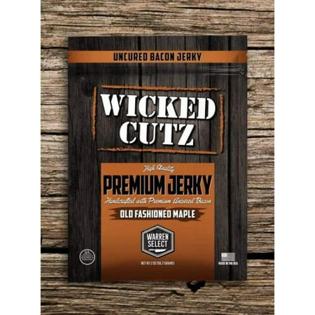 Wicked Cutz Premium Jerky - Old Fashioned Maple Bacon - Bacon Maple Cupcakes