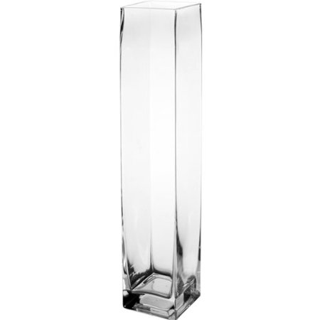 Cys Glass Hand Blown Square Vase H 18 Open D 315 X 315 Cys