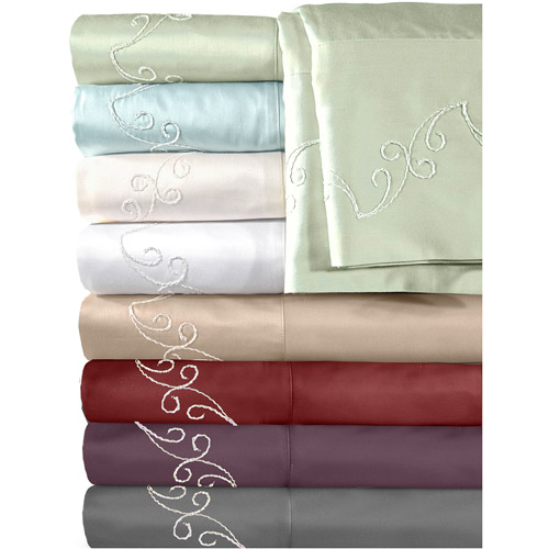 Veratex, Inc. Supreme Sateen 500-Thread Count Scroll Bedding Sheet Set