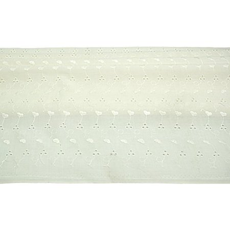 Altotux Ivory Poly 65 Cotton 35 Embroidered Eyelet Lace Allover Fabric 40