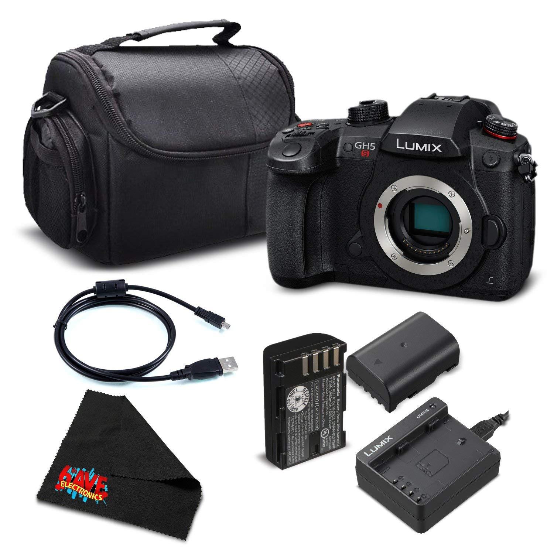 Panasonic Lumix DC-GH5S Mirrorless Micro Four Thirds Digital Camera DC-GH5S - Bronze + Level Bundle- (Intl Model)