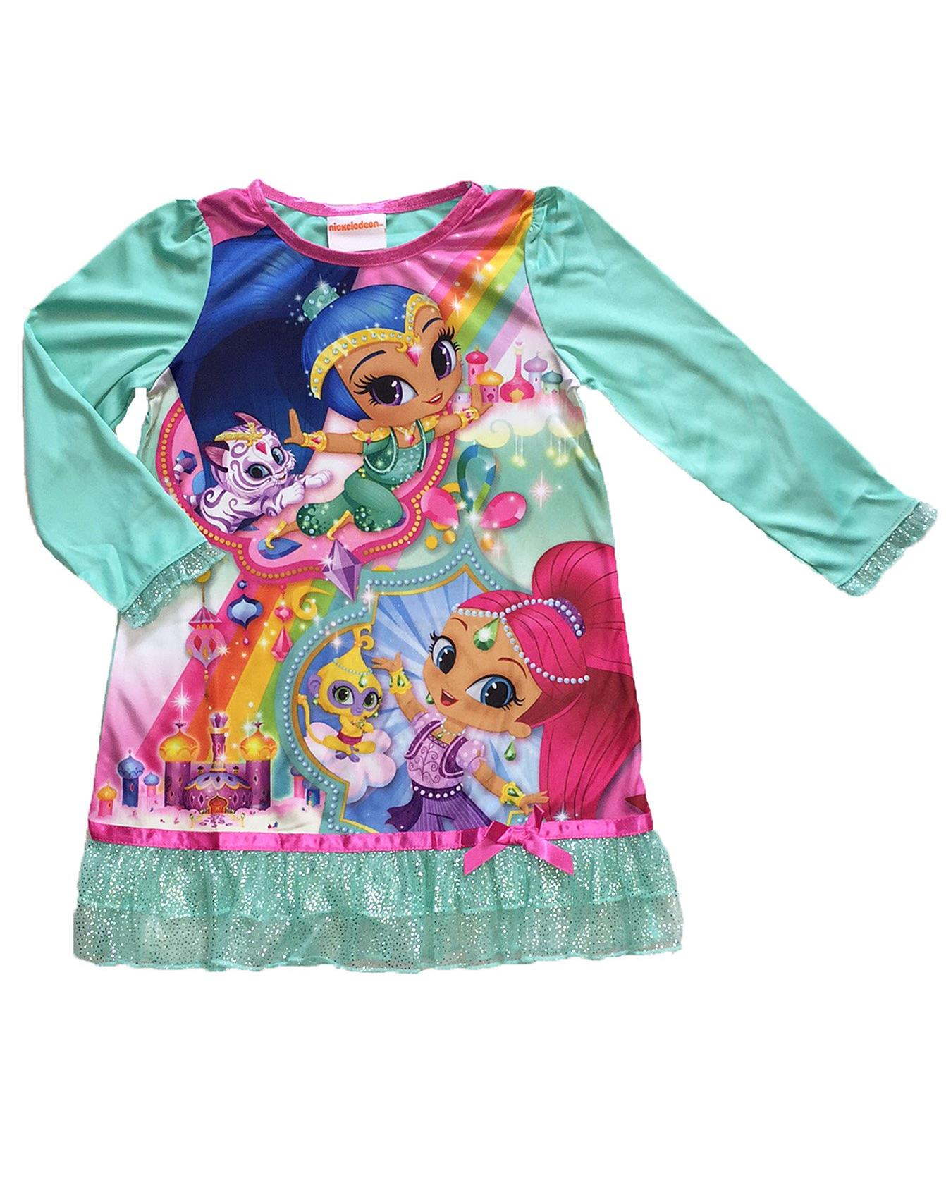 Nickelodeon Shimmer and Shine Girls Nightgown 4-16