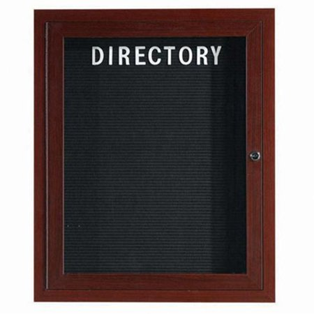 Aarco Products ADCWW3630R Enclosed Aluminum Directory Cabinet - Walnut
