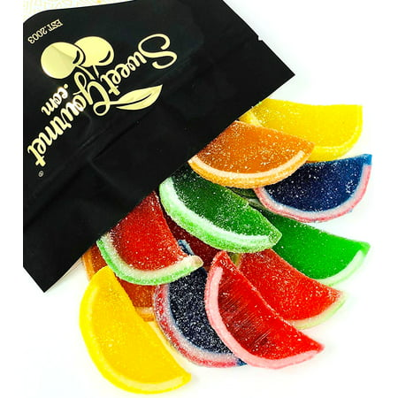 Boston Assorted Fruit Slices - Candy Fruit Jelly Slices unwrapped bulk  13oz bag