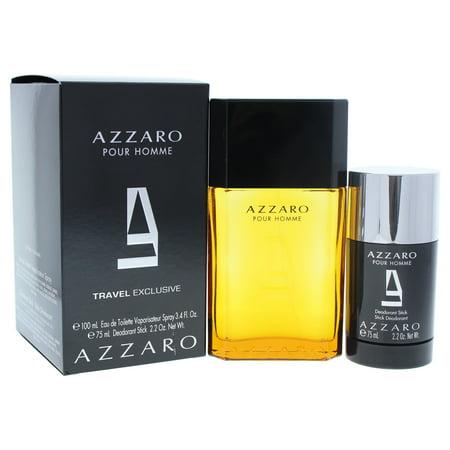 Azzaro Pour Homme by Loris Azzaron for Men - 2 Pc Gift Set 3.4oz EDT Spray 2.2oz Deodorant Stick