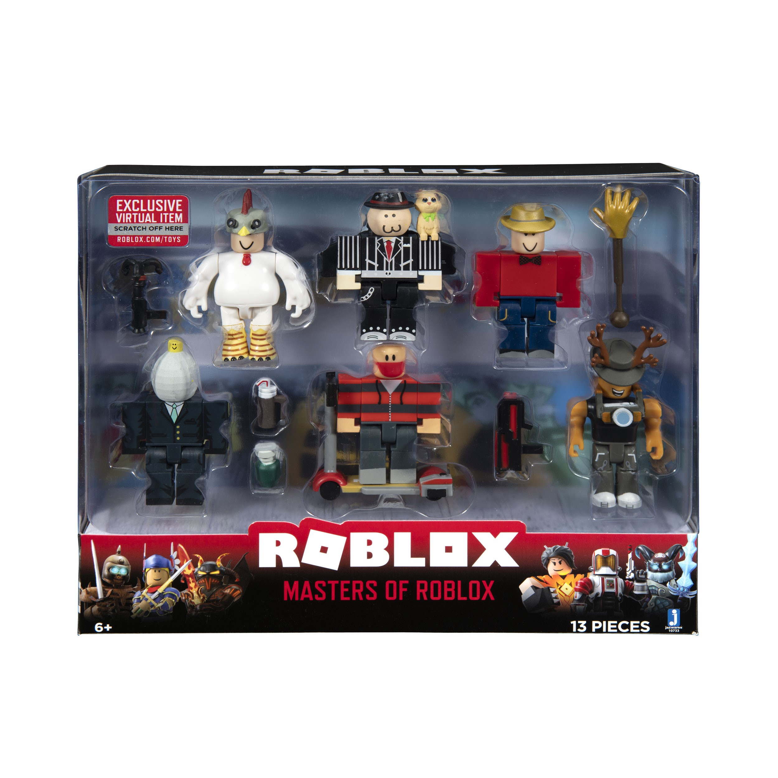 Masters Of Roblox Action Figure 6 Pack Walmartcom - roblox night of the werewolf pack