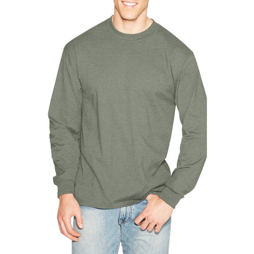 Hanes Mens Premium Beefy-T Cotton Long Sleeve T-Shirt