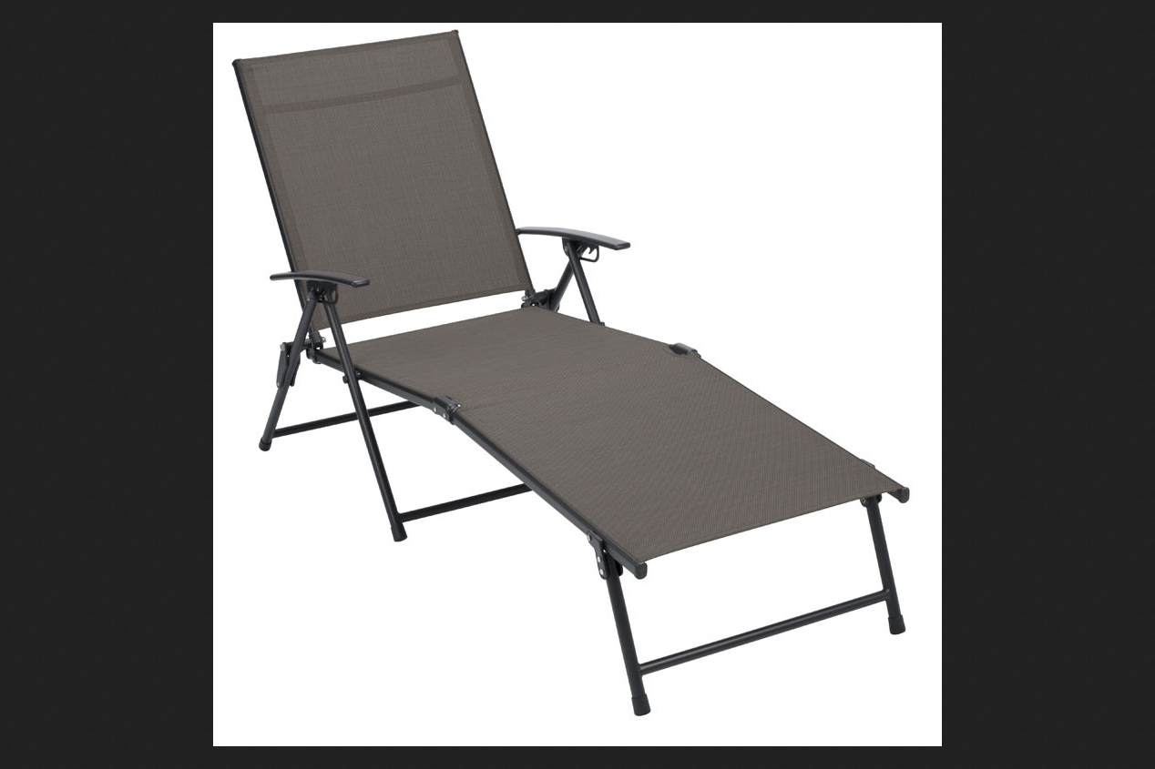 2/Pack Living Accents Zs156180 Folding Sling Chaise Tan