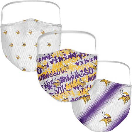 Minnesota Vikings Fanatics Branded Adult Official Logo Face Covering 3-Pack