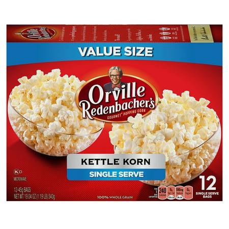 Orville Redenbacher S Kettle Korn Microwave Popcorn Single Serve Bag 12 Count