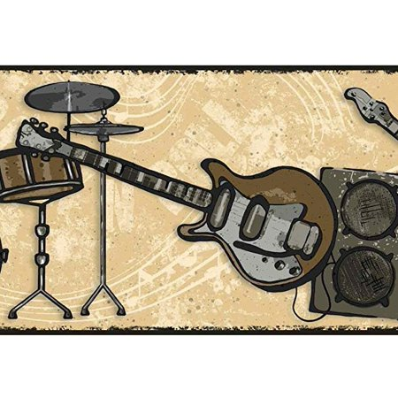 879416 rock n roll guitar music wallpaper border - Guitar border wallpaper ...