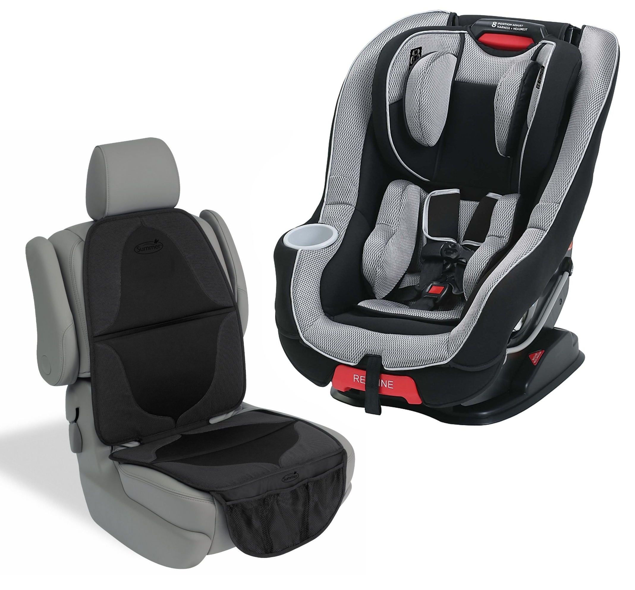Graco Size4Me 65 Convertible Featuring Rapid Remove Car Seat with Seat Mat, Matrix