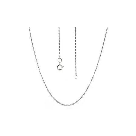 Round Box Chain 925 Sterling Silver 22 inches long Width 1.00 mm Silver Chain