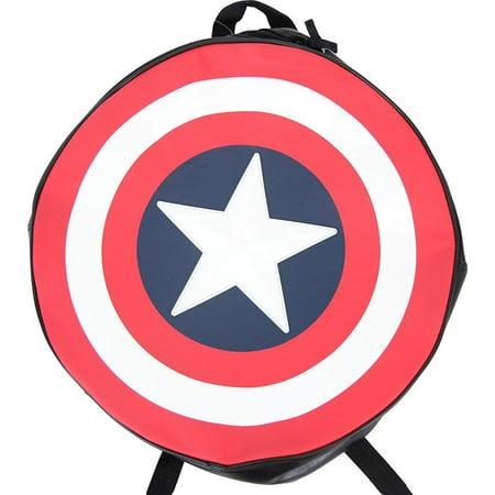 Marvel Comics Captain America Black Backpack/Shield](Captain America Shield Backpack)